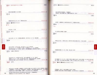宮帯出版社の京ごよみ手帳2020の8月16日の週の写真